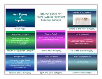 Art Forms-Supplies PowerPoint Slideshow