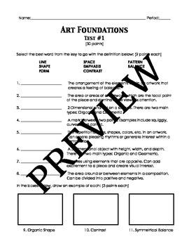 Art Foundations Test #1