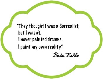 Art Quotes -  Frida Kahlo - Black/White Print Out Frames, Pastels- Art Artist