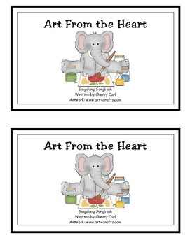 Art From the Heart reproducible guided reader