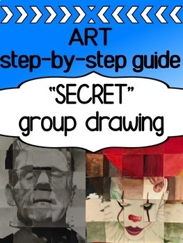 Art - GROUP collaborative drawing for high school - a step by step guide
