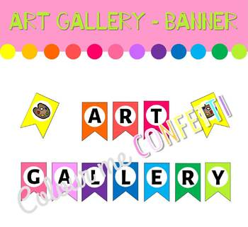Art Gallery Banner - Colour me Confetti