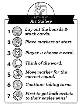 Art Gallery Short and Long A Phonics Game