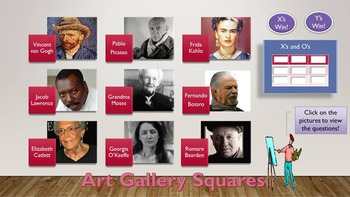 Art Gallery Squares Game