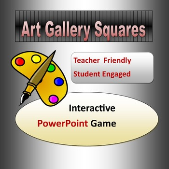 Art Gallery Squares Powerpoint Game Template