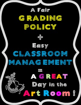 Art Grading and Participation Policy-a well managed artroom & fair grading