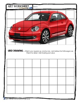 Art Grid Drawing Practice Worksheets - Sub Plan, Early Finisher, Bell Ringer++