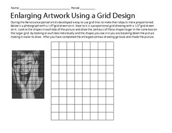 Art Gridding Worksheet