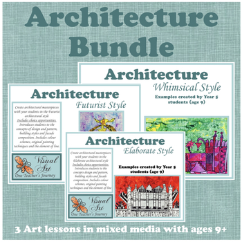 Art (Guided with choice) ARCHITECTURE BUNDLE - 3 LESSONS