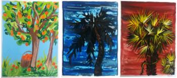 Art History Art Lesson: Gustav Klimt and Trees with Symbol