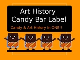 Art History Candy Bar Labels