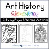 Art History Coloring and Writing