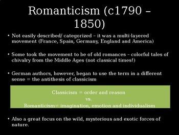 Art History - Comprehensive PPT on Romanticism