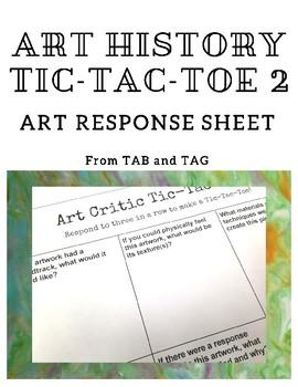 Art History Critic Tic-Tac-Toe 2