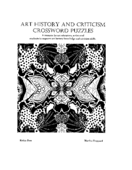 Art History Crossword Book