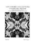 Art History Crossword Book