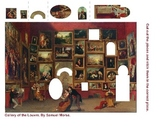 Art History Cut and Paste Worksheet - Gallery of the Louvre