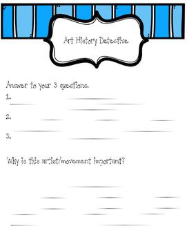 Art History Detective Worksheet
