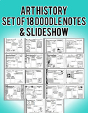 Art History Doodle Notes Set of 18 Editable handouts with