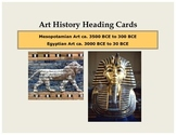 Art History Heading Cards