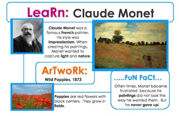 Art History Lesson and Project for Monet