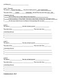 Art History Presentation Summary Sheet