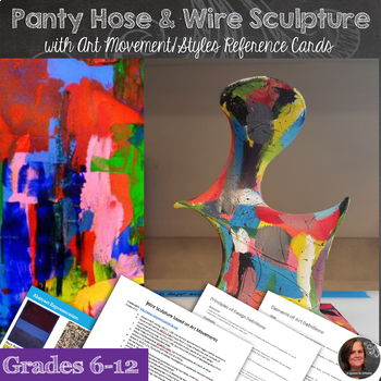 Wire and Panty Hose Sculpture & Art History Presentation + Index Cards