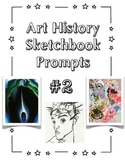Art History Sketchbook Prompt Cards:  Set #2