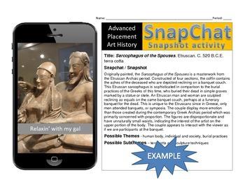 Art History SnapChat / Snapshot Activity