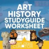Art History Student Study Guide Worksheet