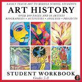 Art History Workbook for Middle School; Art History Worksh