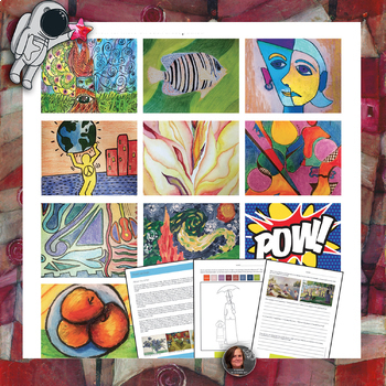 Art History Workbook for Middle School; Art History Worksheets and Activities
