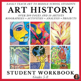 Art History Workbook for Middle School; Art History Worksh