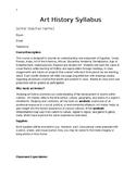 Art History Syllabus