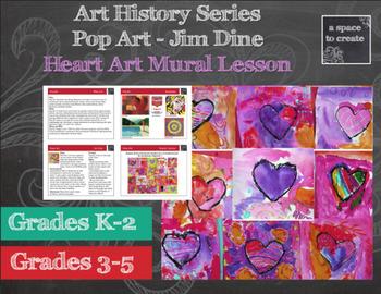 Valentine's Day Art Lesson - Jim Dine Hearts- Art History