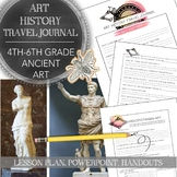 Distance Learning Art History Travel Journal for Late Elem
