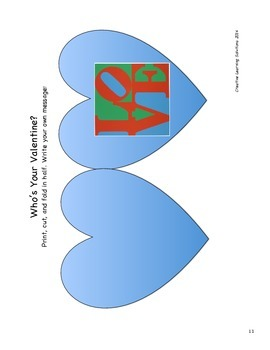 Comparative Writing & Art Activity: Robert Indiana LOVE for Valentine's Day