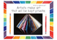 Art History and Advocacy Posters:  What Do Artists Do?  Set #2