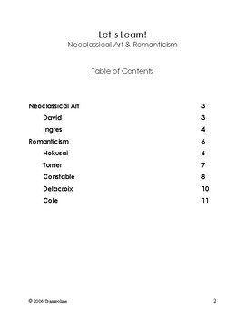 Scholar Art History for Kids - Book IV: Neoclassic Art & Romanticism