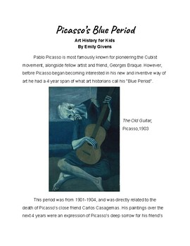 Art History for Kids: Picasso's Blue Period
