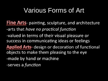 Art History powerpoint-What is Art?