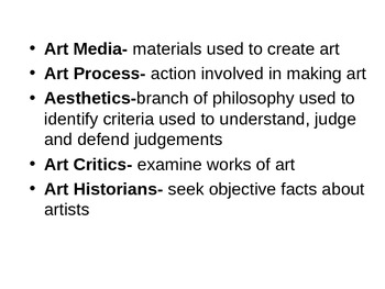 Art History powerpoint-Textbook-Art in Focus, 2001. Chapter 2