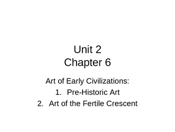 Art History powerpoint-Textbook-Art in Focus, 2001. Chapter 6