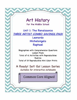 Art History:Exploring the Renaissance-3 Artist Combo Savings Set!