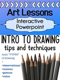 Art - INTRO to drawing - lessons for high school  (contours, gestures etc.)
