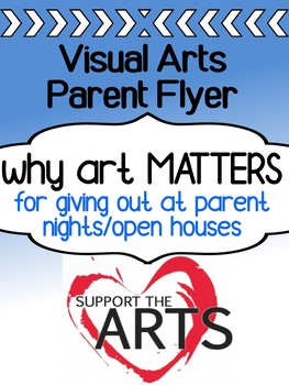 Art - Info Flyer for Parents / Open House - Why Art Education Matters