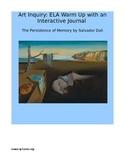 Art Inquiry: ELA Warm-up Interactive Notebook Mini-Lesson
