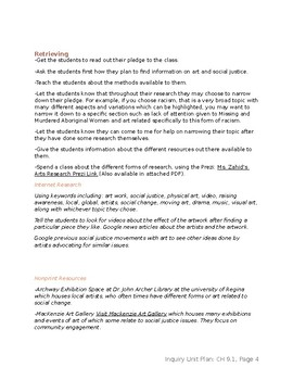Art Inquiry Unit Plan