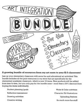 Art Integration Bundle for the Elementary Classroom (Growing Bundle)