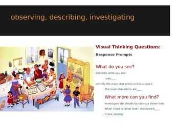 Art Integration:  Visual Thinking Strategies in the Classroom: Family Traditions